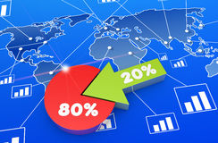 Financial business chart and graphs. Financial data in form of charts and diagrams Royalty Free Stock Images