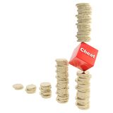 Financial and business cheating concept Stock Photo