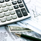Financial business concept Stock Images