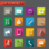 Financial and business flat icons. Set of Financial and business icons. Flat style Stock Image