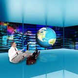 Financial business.Globalization Internet Royalty Free Stock Photos