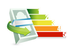 Financial business graph illustration. Design over a white background Royalty Free Stock Photo