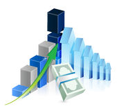 Financial business graph illustration. Design over a white background Stock Photo
