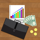 Financial business growth top view vector Stock Photo