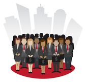 Financial Business Peoples vector. Financial Business Peoples concept vector in front of skycraper Royalty Free Stock Photos