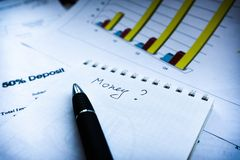 Financial business planning, Balance the investment portfolio royalty free stock photos