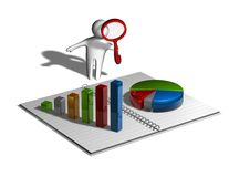 Financial business research concept Stock Photos