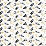 Financial business seamless pattern sketch doodle. Vector illustration royalty free illustration