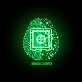 Financial and business security concept Royalty Free Stock Image