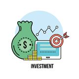 Financial business strategy to corporate economy. Vector illustration Stock Photos
