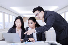 Financial business team make job plans Stock Image