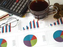 Financial bussiness Stock Image