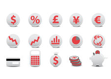 Financial buttons. Vector illustration of financial buttons. You can use it for your website, application, or presentation Royalty Free Stock Photography