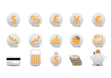 Financial buttons. Vector illustration of financial buttons. You can use it for your website, application, or presentation Royalty Free Stock Images