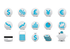 Financial buttons. Vector illustration of financial buttons. You can use it for your website, application, or presentation Royalty Free Stock Photo
