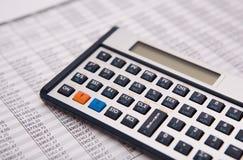 Financial caculator Royalty Free Stock Photo