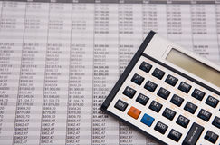 Financial caculator Stock Photography