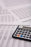 Financial caculator Stock Photos