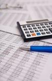 Financial caculator Stock Image