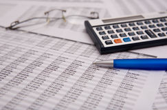 Financial caculator Royalty Free Stock Image