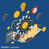 Financial calculation, budget planning, costs definition vector concept Stock Photos