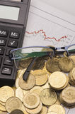 Financial calculation Stock Images