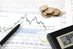 Financial calculations Stock Photos