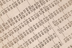 The financial calculations. Stock Photos