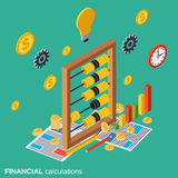 Financial calculations, budget planning, costs definition vector concept Royalty Free Stock Photo