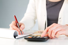Financial calculations - business accounting Stock Image