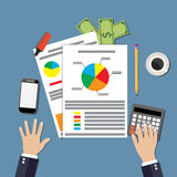 Financial calculations design Stock Photography