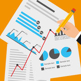 Financial calculations. Design, vector illustration eps10 graphic Royalty Free Stock Image