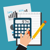 Financial calculations. Design, vector illustration eps10 graphic Stock Photos