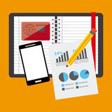 Financial calculations. Design, vector illustration eps10 graphic Royalty Free Stock Images