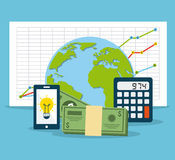 Financial calculations Stock Images
