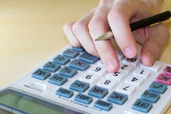Financial calculations Royalty Free Stock Photos