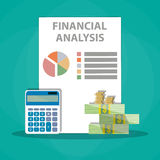 Financial calculations. Working process Stock Images