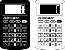 The financial calculator. A vector illustration. It is isolated on a white background Stock Image