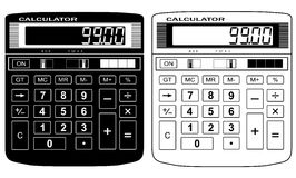The financial calculator. A vector illustration. It is isolated on a white background Royalty Free Stock Image