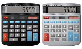 The financial calculator. Royalty Free Stock Photo