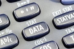 Financial Calculator. Detail view of a modern scientific calculator Stock Photography