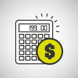 Financial calculator money economy icon. Vector illustration eps 10 Royalty Free Stock Photography