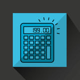 Financial calculator money economy icon. Vector illustration eps 10 Stock Image