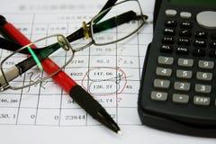 Financial calculator Stock Photo