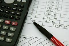 Financial calculator Royalty Free Stock Photography