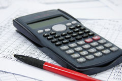 Financial calculator Royalty Free Stock Image
