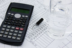 Financial calculator Royalty Free Stock Images