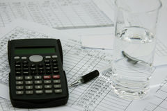 Financial calculator Stock Photo
