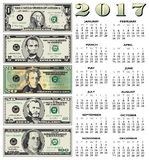 2017 financial calendar. For print or web Stock Images