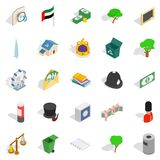 Financial capital icons set, isometric style. Financial capital icons set. Isometric set of 25 financial capital vector icons for web isolated on white Royalty Free Stock Images